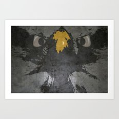 angry eagle Art Print
