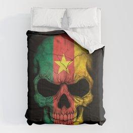 Dark Skull with Flag of Cameroon Comforters
