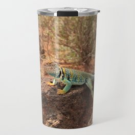 Collared Lizard Resting on the Rocks in Arizona Travel Mug