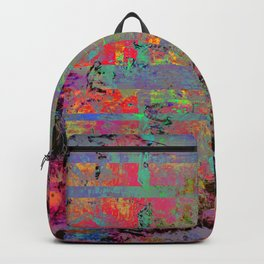 Neon Charred Abstract Backpack