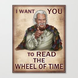 I Want You to read the Wheel of Time Canvas Print