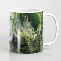 ireland Mugs featuring Ireland by Holly Carton