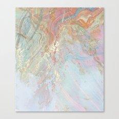 Marble Art V10 #society6 Canvas Print