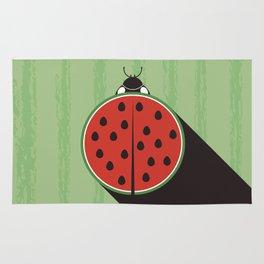 Watermelon-ladybug Rug