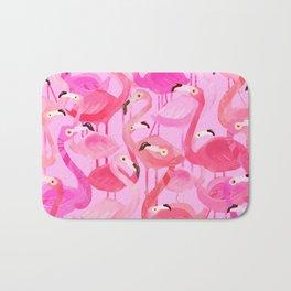 Flamingo pattern pink Bath Mat
