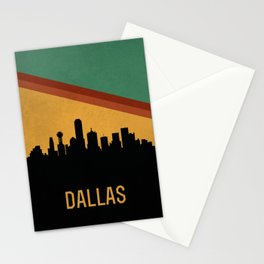 Dallas Skyline Stationery Cards