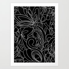 Nature black&white Art Print