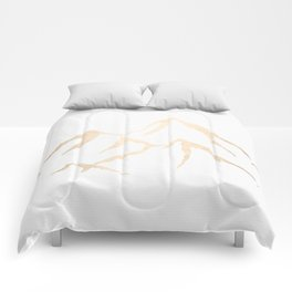 Adventure White Gold Mountains Comforters