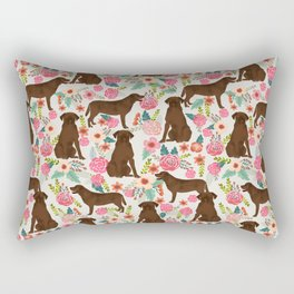 Labrador Retriever florals chocolate lab cute pet gifts must have labrador florals Rectangular Pillow