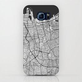 Jakarta Map Gray iPhone Case