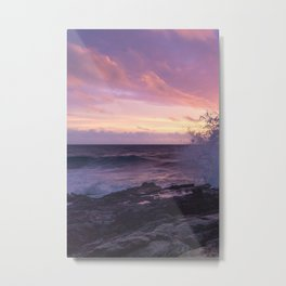 Makapu'u Beach Sunrise, Oahu, Hawaii (triptych left, 1 of 3) Metal Print