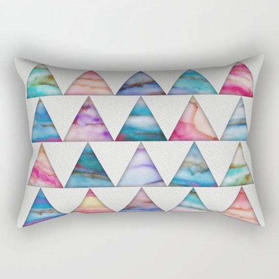 Marble Triangles 2 Rectangular Pillow