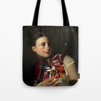 gravity Tote Bags featuring Gravity by DIVIDUS