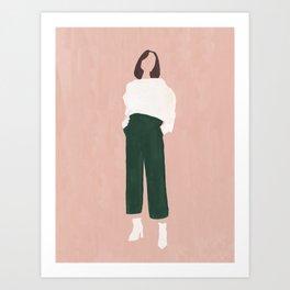 Pink + Green Art Print