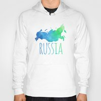 russia Hoodies featuring Russia by Stephanie Wittenburg