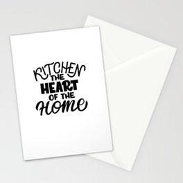 Kitchen - the heart of the home - Funny hand drawn quotes illustration. Funny humor. Life sayings. Sarcastic funny quotes. Stationery Cards