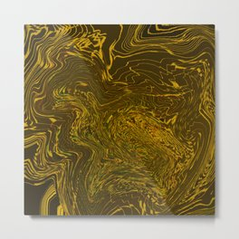 Melted gold Metal Print