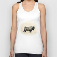 bison Tank Tops featuring Bison by Eric Tiedt