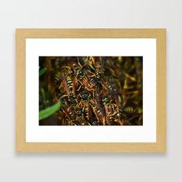 Home Sweet Hive Framed Art Print
