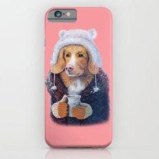 Winter dog iPhone 6s Slim Case