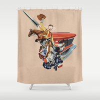 western Shower Curtains featuring Western by Lerson