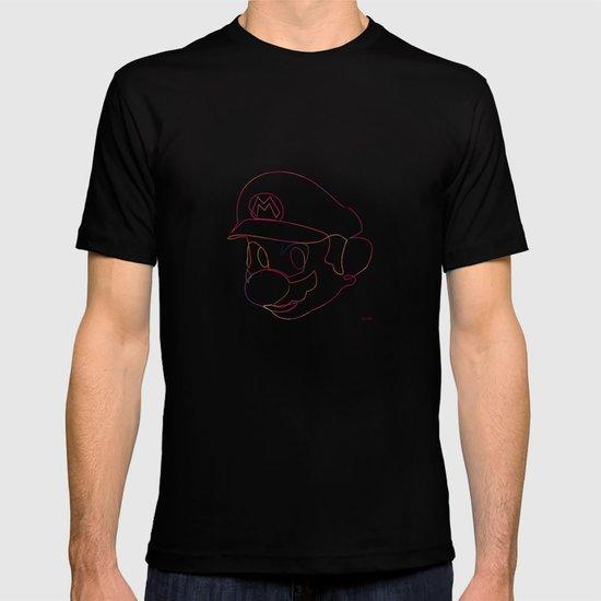 One line Supermario T-shirt