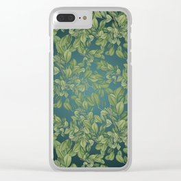 Verdant Leaves Clear iPhone Case