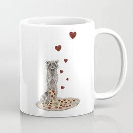 Trash Panda Hearts Pizza Coffee Mug