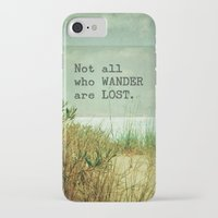 not all who wander iPhone & iPod Cases featuring Not All Who Wander by Olivia Joy StClaire