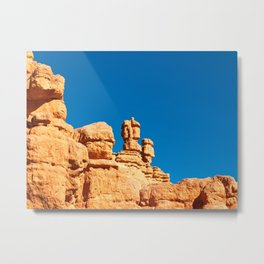 The Totem Heads of Red Canyon Metal Print