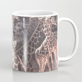 Giraffe Party // Spotted Long Neck Graceful Creatures in Wildlife Preserve Coffee Mug