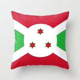 Burundi country flag Throw Pillow