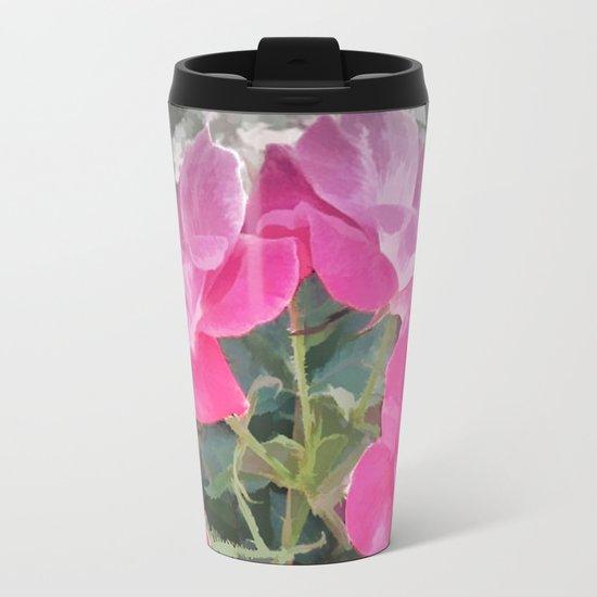 Iced Blossoms Metal Travel Mug