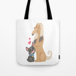 Pets relationship dog love sweet Tote Bag