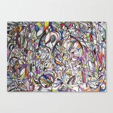 Chromatic Collisions Canvas Print