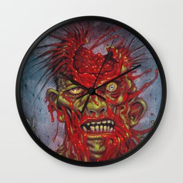 Zombie - With It's Brains Blown Out Wall Clock