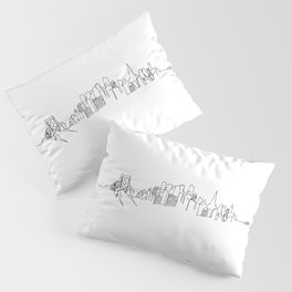 San Francisco Skyline Drawing Pillow Sham