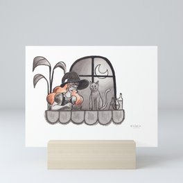 Studying witch Mini Art Print