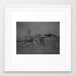 U of M sketch Framed Art Print