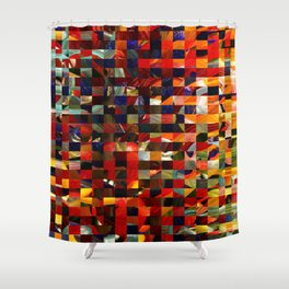 Colorful Collage Shower Curtain