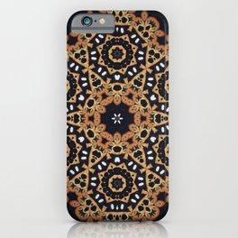 Evening Sun // Geometric Abstract Bohemian Rustic Tribal Black White Boho Circle Star iPhone Case