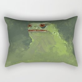 Frog simple illustration texture painting pepe Rectangular Pillow