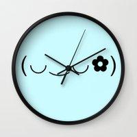 kawaii Wall Clocks featuring Kawaii by Tony Truong