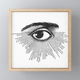 I See You. Black and White Framed Mini Art Print