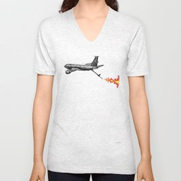 KC-135 Flames Unisex V-Neck