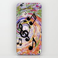 music notes iPhone & iPod Skins featuring Music Notes by gretzky