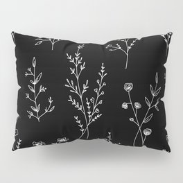 New Black Wildflowers Pillow Sham