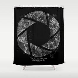 Traveling Lens Shower Curtain