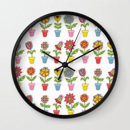 House plants flowers Wall Clock