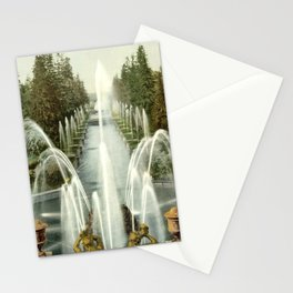 Fontains of Petergof, St. Petersburg, Russia, 1900 Stationery Cards